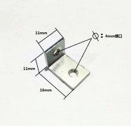 <b>机箱小支架机箱配件冲压件,角码,带螺纹</b>